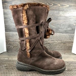 Ann Taylor LOFT Suede Leather Boots 8